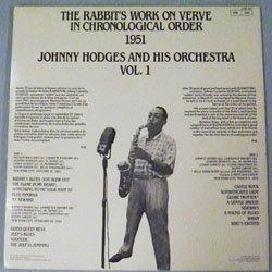 画像2: 中古アナログちょっとRARE JOHNNY HODGES ORCHESTRA / Vol.1 [LP]]  (VERVE)